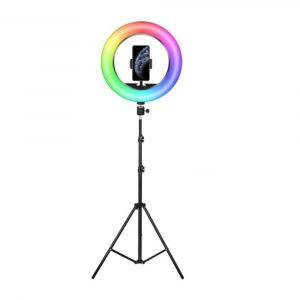 26cm RGB LED Selfie Ring Fill Light with Tripod