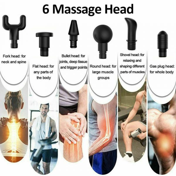 6 Heads Muscle Tissue Massager Percussion Therapy Electric Massage Gun_10