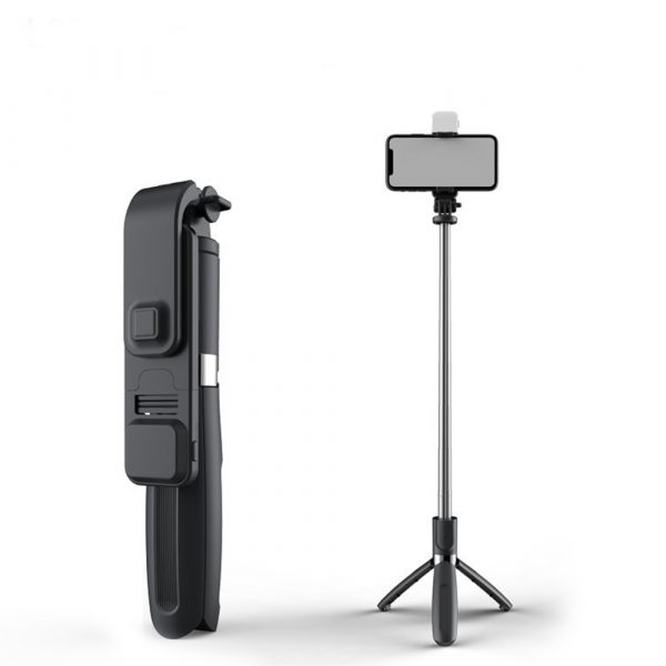 2-in-1 Foldable Monopod and Tripod with Remote Control Shutter Fill Light_0