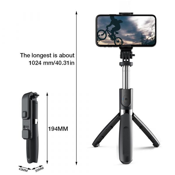 2-in-1 Foldable Monopod and Tripod with Remote Control Shutter Fill Light_3