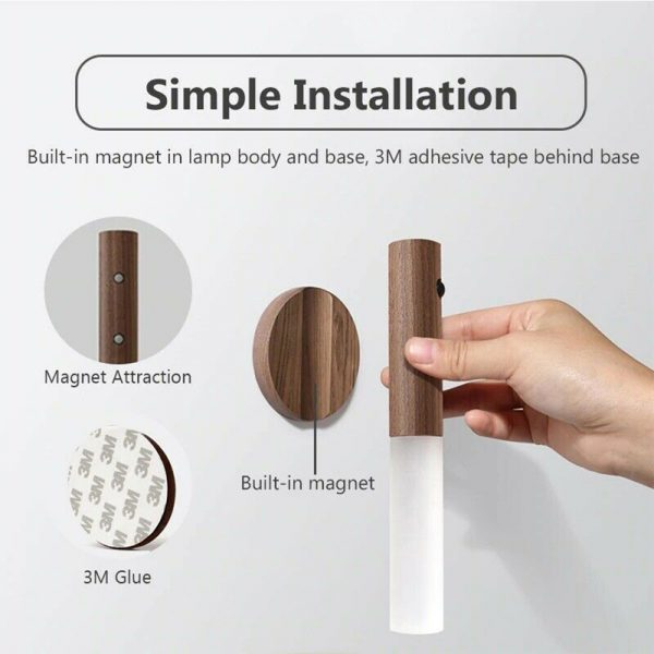 Rechargeable Motion Sensor LED Night Light for Wall Stairs Cabinet Hallway_11