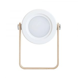 USB Rechargeable LED Retractable Folding Lamp Portable Wooden Night Light