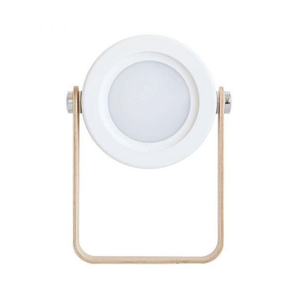 USB Rechargeable LED Retractable Folding Lamp Portable Wooden Night Light_0