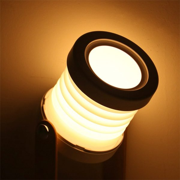 USB Rechargeable LED Retractable Folding Lamp Portable Wooden Night Light_6