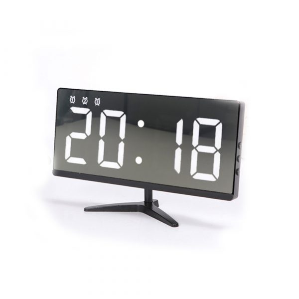 Frameless Touch Control Digital Alarm Clock with Temperature Display_0