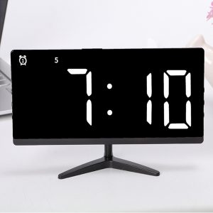 Frameless Touch Control Digital Alarm Clock with Temperature Display