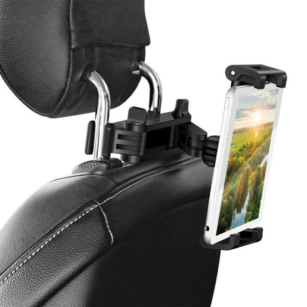 Universal Adjustable Angle Car Headrest Mobile Phone and Device Holder_2