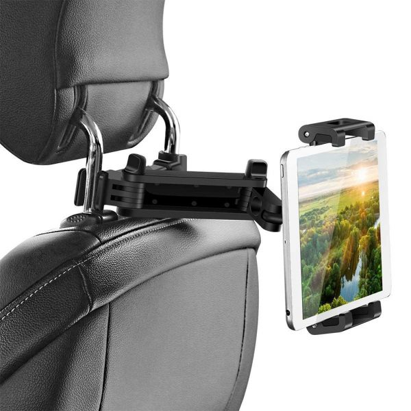 Universal Adjustable Angle Car Headrest Mobile Phone and Device Holder_3