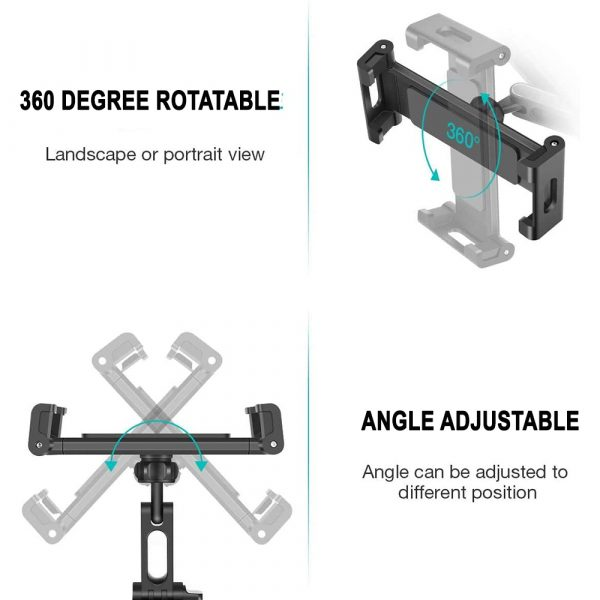 Universal Adjustable Angle Car Headrest Mobile Phone and Device Holder_6