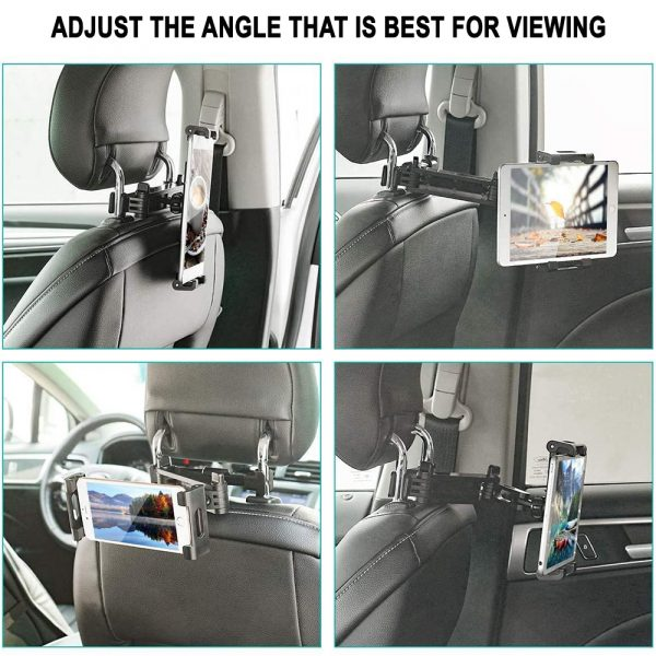 Universal Adjustable Angle Car Headrest Mobile Phone and Device Holder_8
