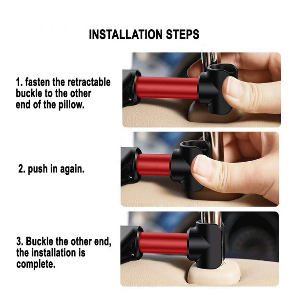Universal Adjustable Angle Car Headrest Mobile Phone and Device Holder_9