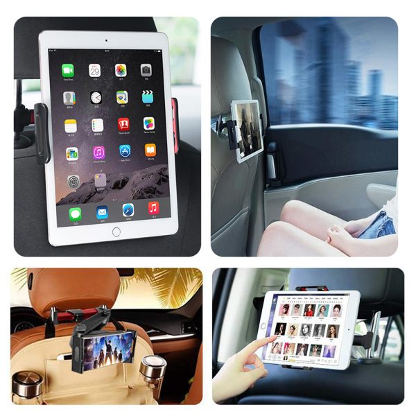 Universal Adjustable Angle Car Headrest Mobile Phone and Device Holder_11