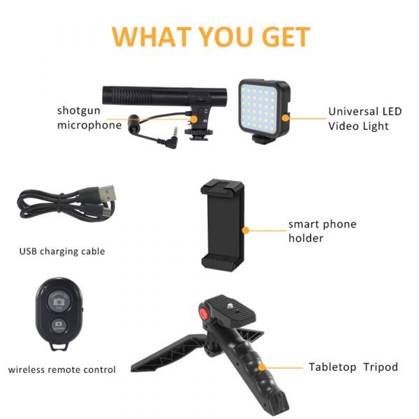 Mobile Phone Photography Video Shooting Kit with for Phones and Camera_5