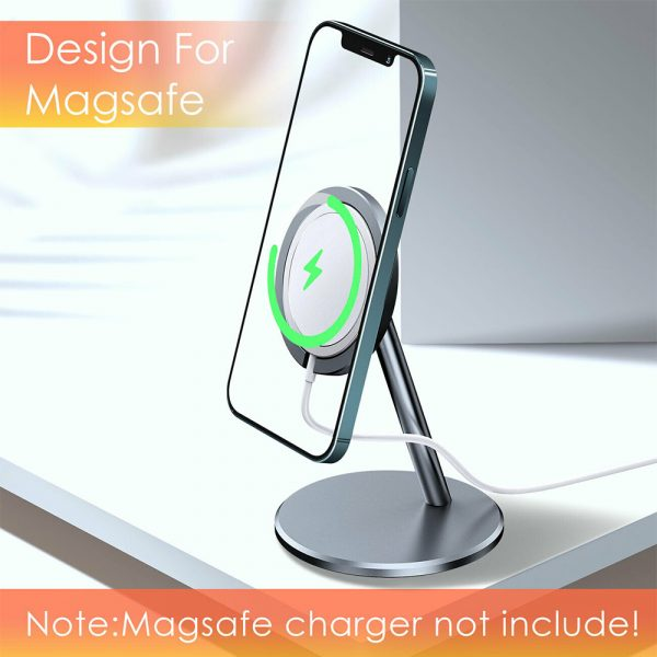 Aluminum Wireless Magnetic Mobile Phone Holder MagSafe Compatible_6