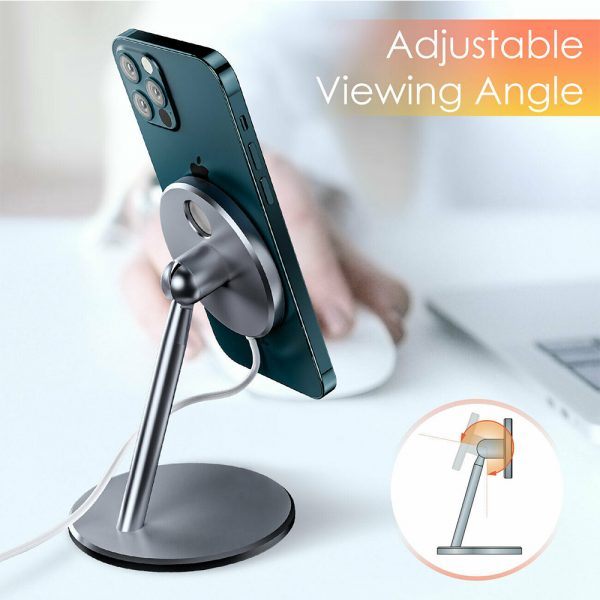 Aluminum Wireless Magnetic Mobile Phone Holder MagSafe Compatible_7