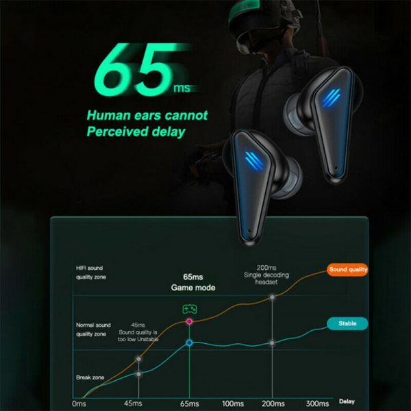 K55 TWS Wireless Gaming Bluetooth Headset with Mic and Charging Case_11