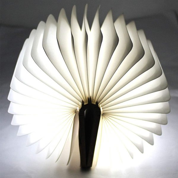USB Rechargeable 3 Colors 3D Creative Foldable LED Book Night Light_10