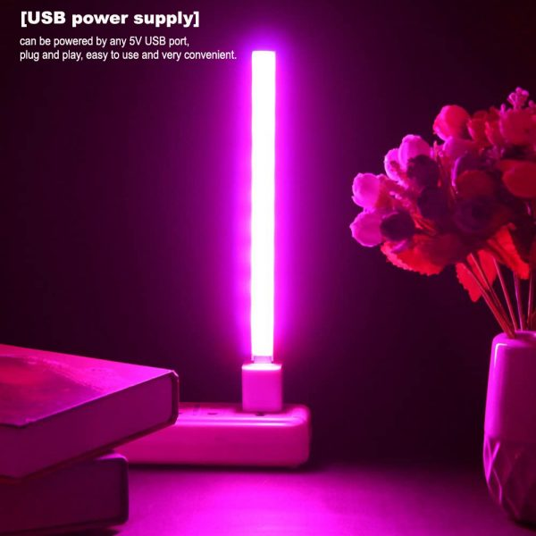 USB Interface LED Growing Plant Light Bar for Desktop Plant and Flowers_5