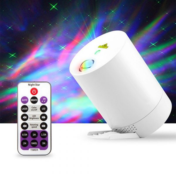 Night Light Starry Sky Lamp Projector Remote Control Musical Rotating Lamp_3