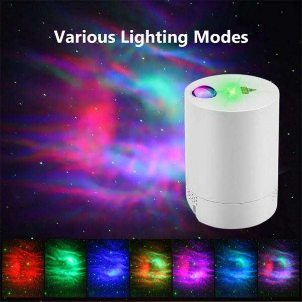 Night Light Starry Sky Lamp Projector Remote Control Musical Rotating Lamp_4