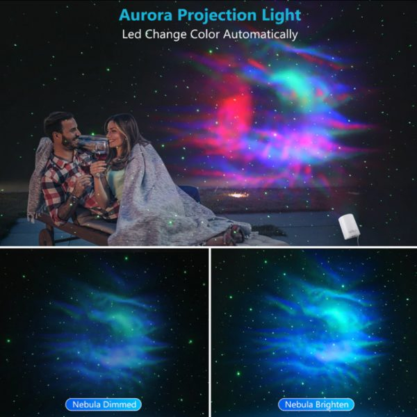 Night Light Starry Sky Lamp Projector Remote Control Musical Rotating Lamp_9