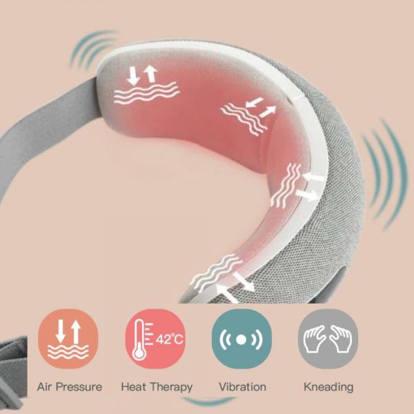 Rechargeable Heat Therapy Air Compression Eye Massager_9