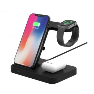 3-in-1 Qi Enabled Wireless Charging Station for Samsung and Apple Devices