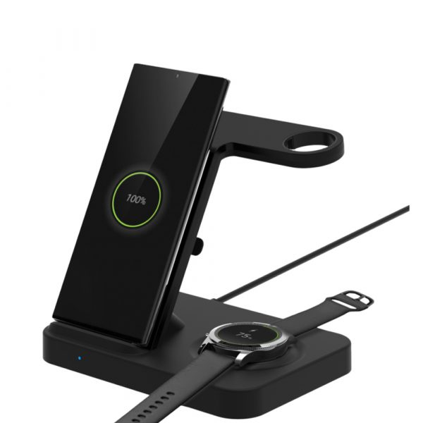 3-in-1 Qi Enabled Wireless Charging Station for Samsung and Apple Devices_2