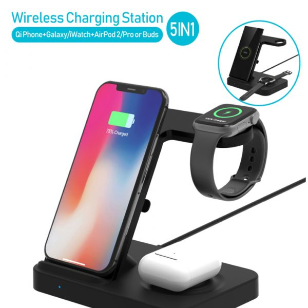 3-in-1 Qi Enabled Wireless Charging Station for Samsung and Apple Devices_3