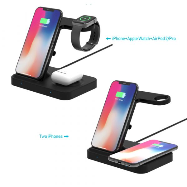 3-in-1 Qi Enabled Wireless Charging Station for Samsung and Apple Devices_4