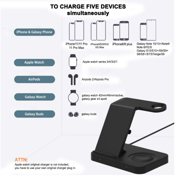 3-in-1 Qi Enabled Wireless Charging Station for Samsung and Apple Devices_5