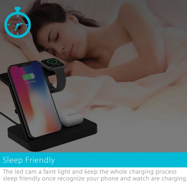 3-in-1 Qi Enabled Wireless Charging Station for Samsung and Apple Devices_9
