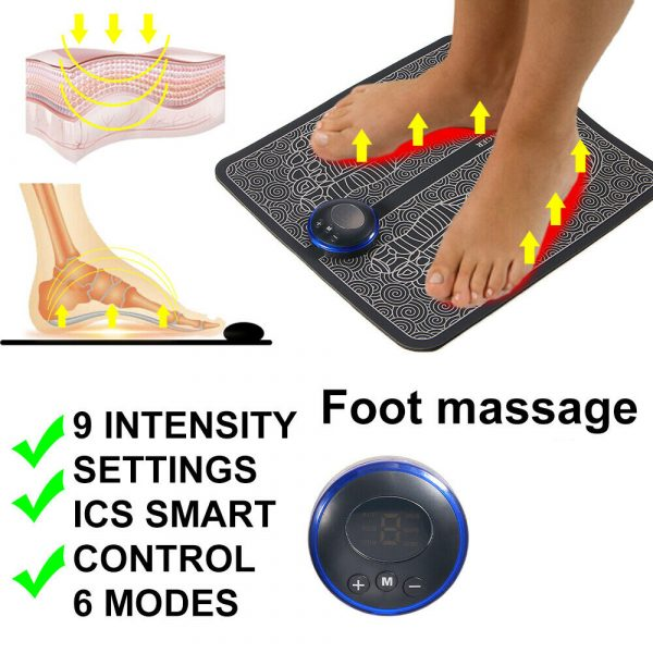 USB Rechargeable Foot Cushion and Massager with LCD Gear Display_5
