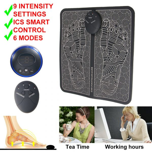 USB Rechargeable Foot Cushion and Massager with LCD Gear Display_6