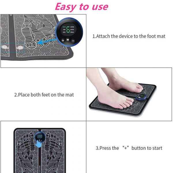 USB Rechargeable Foot Cushion and Massager with LCD Gear Display_8