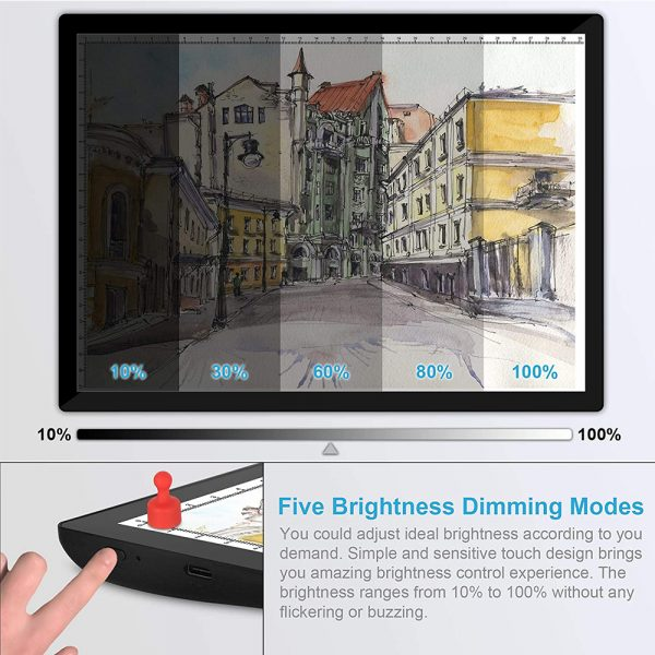 USB Rechargeable A4 Magnetic Pad Guide Light Tracing and Drawing Board_9