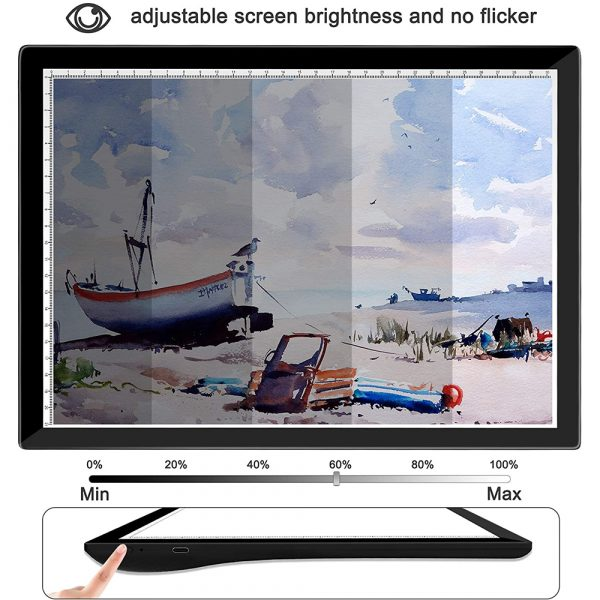 USB Rechargeable A4 Magnetic Pad Guide Light Tracing and Drawing Board_11