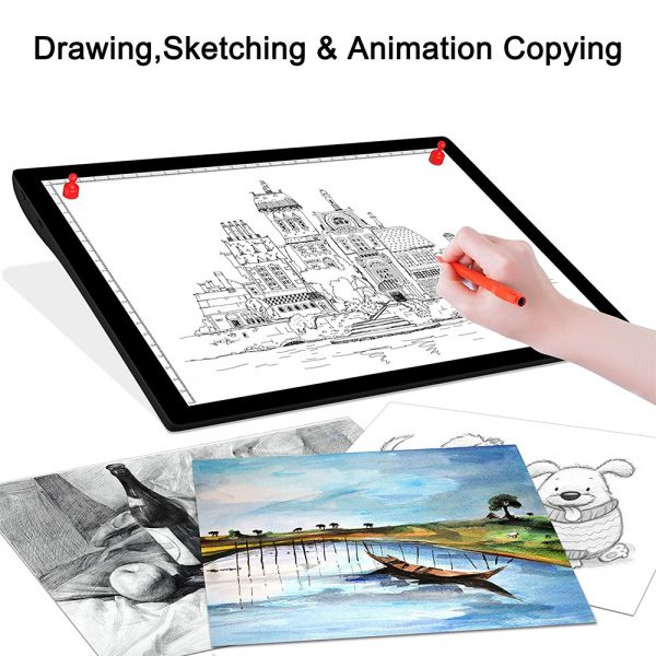 USB Rechargeable A4 Magnetic Pad Guide Light Tracing and Drawing Board_13