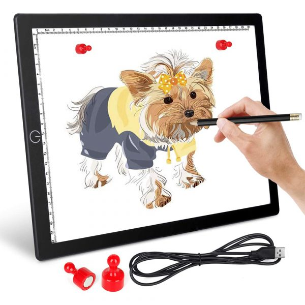 A4 Tracing Light Pad Magnetic Drawing Board Tracing Fill Light_2