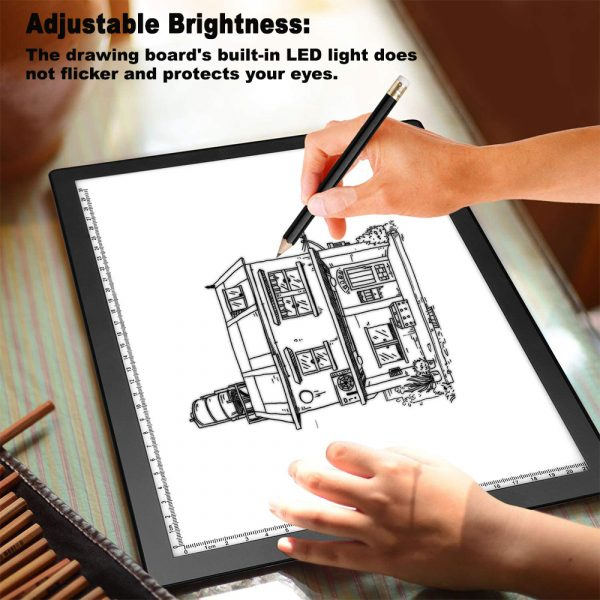 A4 Tracing Light Pad Magnetic Drawing Board Tracing Fill Light_3