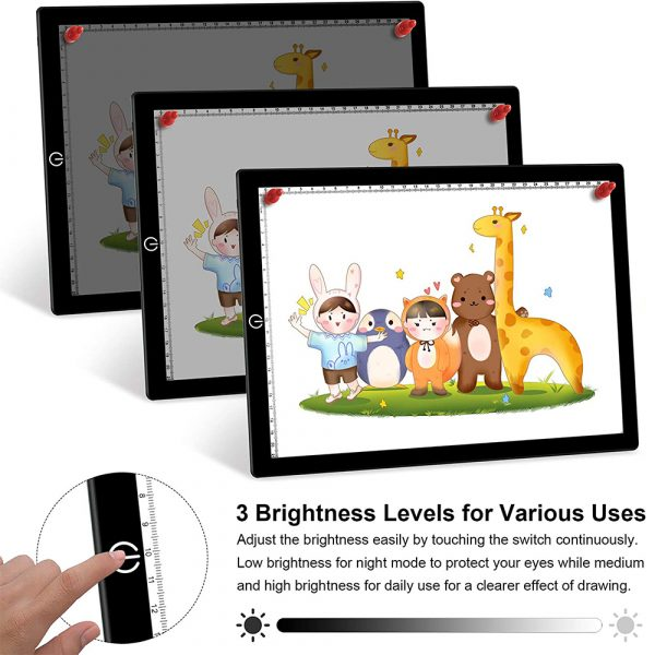 A4 Tracing Light Pad Magnetic Drawing Board Tracing Fill Light_5