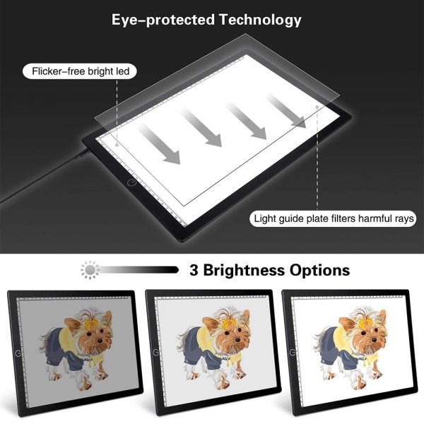 A4 Tracing Light Pad Magnetic Drawing Board Tracing Fill Light_6