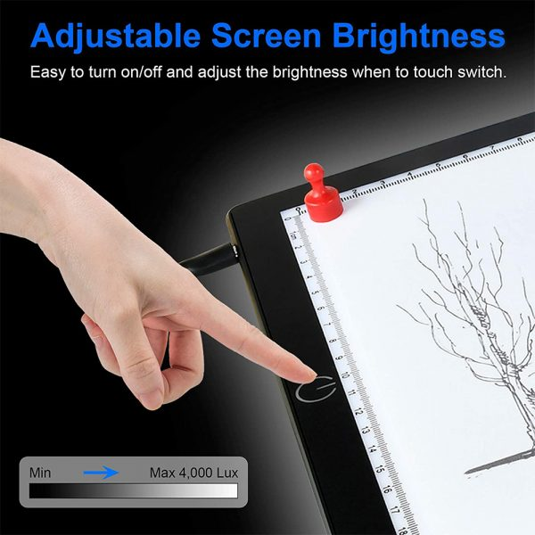 A4 Tracing Light Pad Magnetic Drawing Board Tracing Fill Light_7