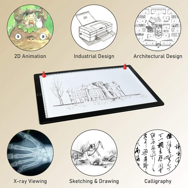 A4 Tracing Light Pad Magnetic Drawing Board Tracing Fill Light_8