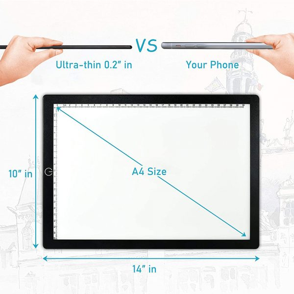 A4 Tracing Light Pad Magnetic Drawing Board Tracing Fill Light_11