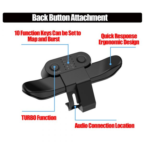 Extended Gamepad Back Button PS4 Game Controller_3