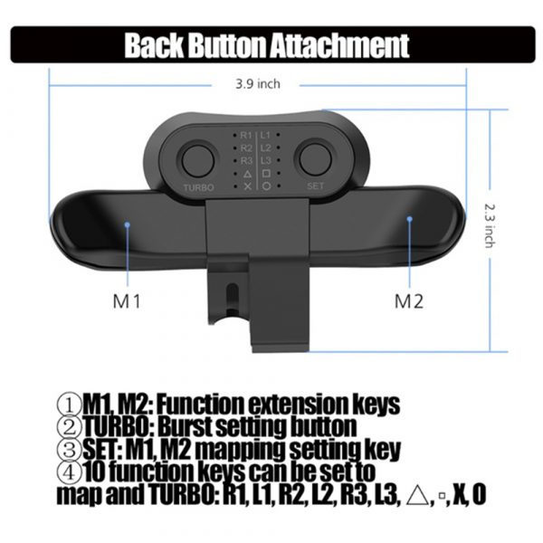 Extended Gamepad Back Button PS4 Game Controller_4