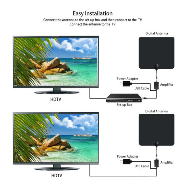 Digital VHF UHF TV Antenna with Amplifier for Home Use_7