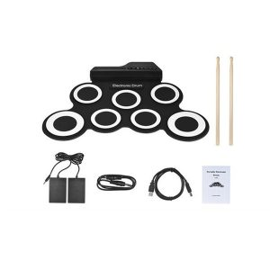 Electronic Drum Kit Musical Roll-up Drum Set for Kids