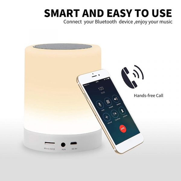 Bluetooth Speaker Touch Control LED Light_2